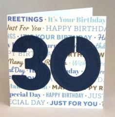 Thirtieth Birthday Card
