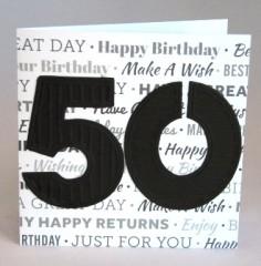 Fiftieth Birthday Card