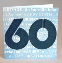 Sixtieth Birthday Card