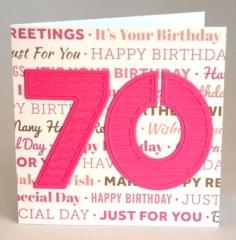 Seventieth Birthday Card