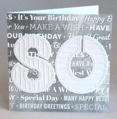 Eightieth Birthday Card