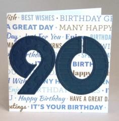 Ninetieth Birthday Card
