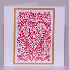 Red Loveheart Valentine Card