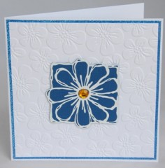 Big Blue Daisy Card