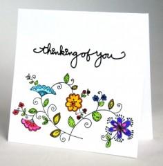 Delicate Floral Sympathy Card