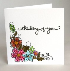 Floral Tribute Sympathy Card