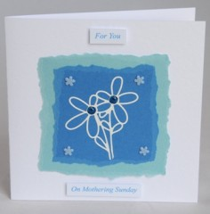 White Flowers Mother's Day Card