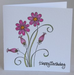 delicate daisies card