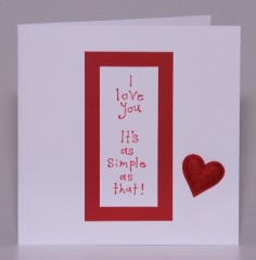 Loving Words Valentine Card