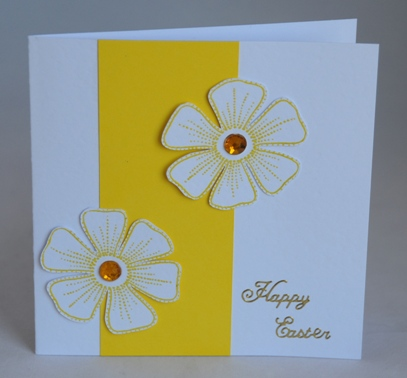 White Daisies Easter Card