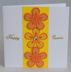 Three Flowers Easter Card
