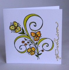 Cheerful Flowers Get Well Card