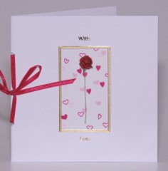 Red Rose With Love Card
