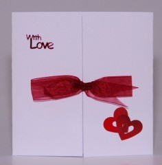 Entwined Hearts With Love Card