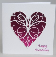 Filigree Heart Card