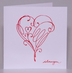 Squiggle Hearts Card