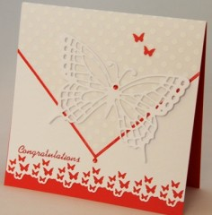 Butterfly Wedding Wishes Card