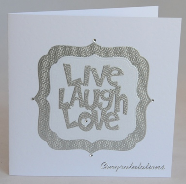 Live, Laugh, Love Wedding Card