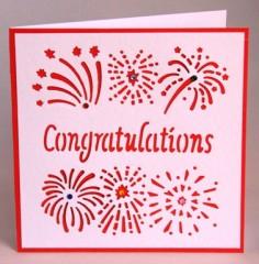Fireworks Congratulations Card