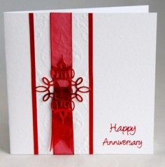 Ribbon and Buckle Anniversary Card