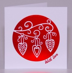 Decorative Hearts Card
