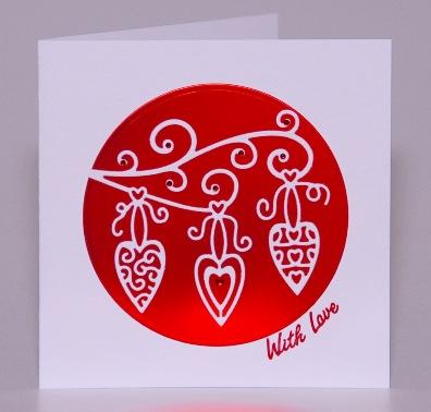 Decorative Hearts Card