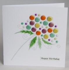 Bubble Flower Card