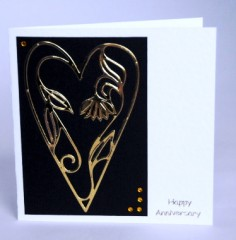 Entwined Vine Heart Card
