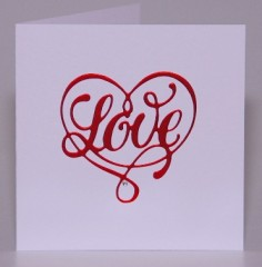 Pretty Love Heart Card