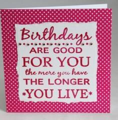 The Living Longer Card