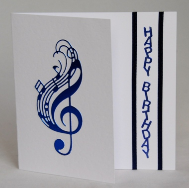 A handmade birthday card for a music lover handmade by helen music birthday bookmarktalkfo Images