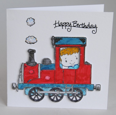 A handmade birthday card for a boy who loves trains handmade by helen the train card bookmarktalkfo Image collections
