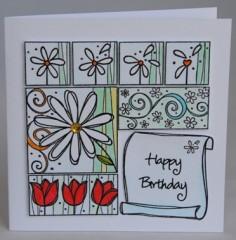 Daisies Birthday Card
