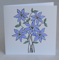 Periwinkles Flower Card