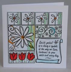 Daisies Anniversary Card