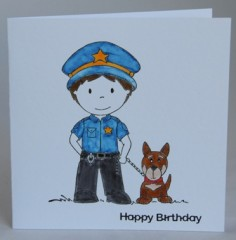 Policeman Birthday Card