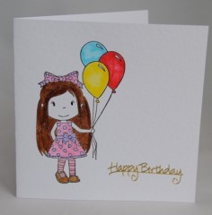 Party Girl Birthday Card
