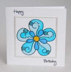 Blue Glaze Flower