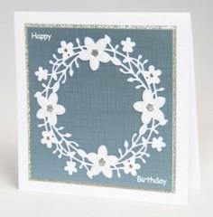 Blossom wreath card