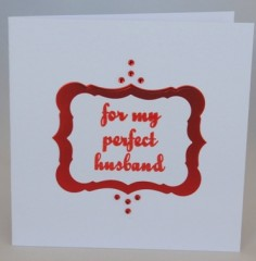 My Perfect Husband Card