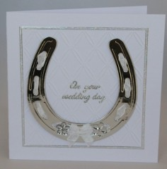 Horseshoe Wedding Card
