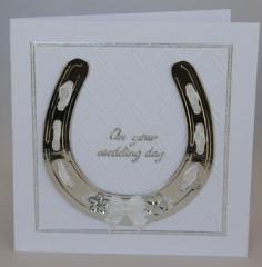 Horseshoe Wedding Card