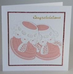 Baby Bootees Card
