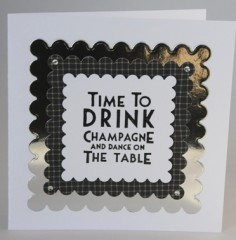 Time To Drink Champagne Card