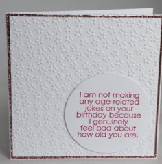 No Jokes! Birthday Card