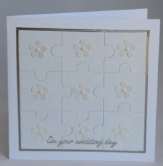 Joined Together Wedding Card