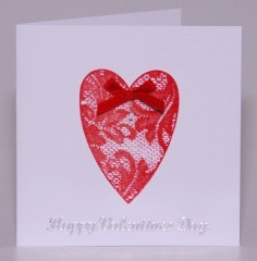 Lace Valentine  Card
