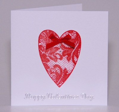 Lace Valentine  Card