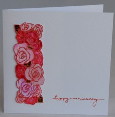 Bed Of Roses Anniversary Card