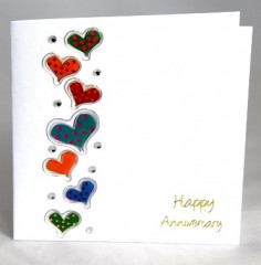Anniversary Hearts Card